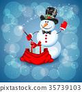 snowman, christmas, magic 35739103