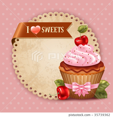 Cherry cupcake 35739362