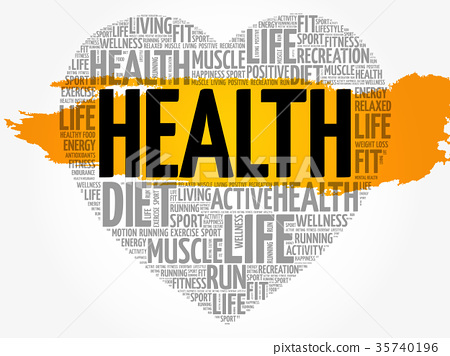 HEALTH heart word cloud 35740196