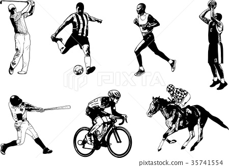 Various sports sketch illustration 35741554