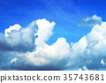 fleecy clouds, background, backgrounds 35743681