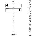 sign, arrow, signage 35745172