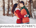Couple love snow and cold 35748871