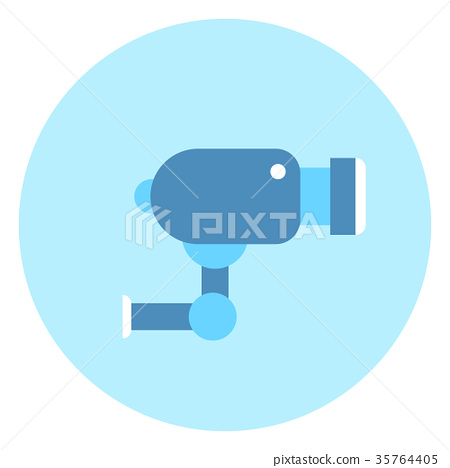 Cctv Video Camera Icon Security Concept 35764405