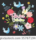 Vector set of plants, flowers and herbs. 35767194