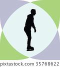 ice skate silhouette 35768622