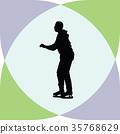 ice skate silhouette 35768629
