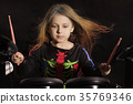 drummer, girl, performance 35769346