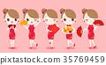 cartoon, cheongsam, congratulate 35769459