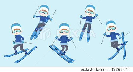 man is skiing 35769472