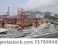 the industrial port with containers 35769948