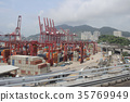 the industrial port with containers 35769949