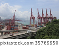 the industrial port with containers 35769950