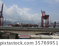 the industrial port with containers 35769951
