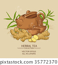 ginger tea illustration 35772370