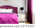 Matrimonial double bed in modern bedroom 35772557