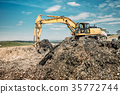 industrial works with excavator 35772744