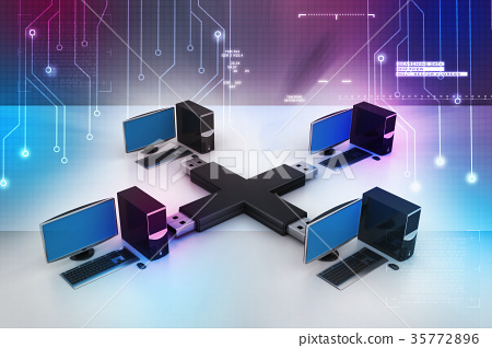 Usb with computer net work 35772896