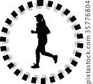 runner silhouette. jogging 35776804