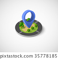 pin icon map 35778185