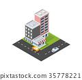 city, vector, street 35778221