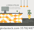 Reception Desk Office Space Background 35782487