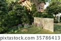 garden of english house 3d rendering 35786413