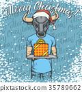 公牛 牛 聖誕節 35789662