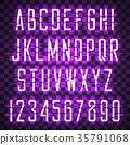 vector, neon, alphabet 35791068