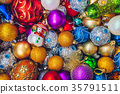 Colourful Christmas holiday decorations 35791511