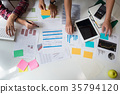 Business team adviser analysis financial data. 35794120