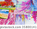 Watercolor paintings art work  by a photography. 35800141