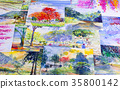 Watercolor paintings art work  by a photography. 35800142