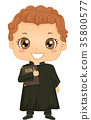 Boy Priest Costume 35800577