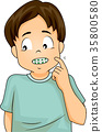 Shy Boy with Braces 35800580