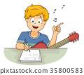 Boy Compose Song 35800583