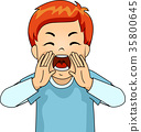 Kid Boy Yelling Angry 35800645