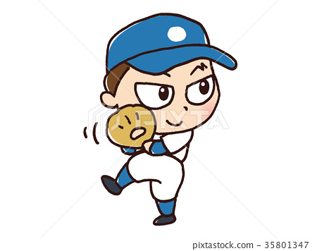 男子打棒球 35801347