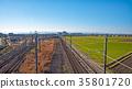 saitama prefecture, kawagoe city, electric train 35801720
