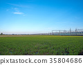 electric train, train, blue sky 35804686