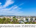 주택가 푸른 하늘 35805562