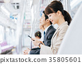 Business Woman Train photography cooperation-Keio Electric Railway Co., Ltd. 35805601