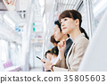 Business Woman Train photography cooperation-Keio Electric Railway Co., Ltd. 35805603
