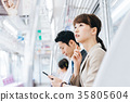 Business Woman Train photography cooperation-Keio Electric Railway Co., Ltd. 35805604