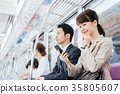 Business Woman Train photography cooperation-Keio Electric Railway Co., Ltd. 35805607