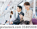 Business Woman Train photography cooperation-Keio Electric Railway Co., Ltd. 35805608