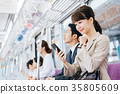 Business Woman Train photography cooperation-Keio Electric Railway Co., Ltd. 35805609