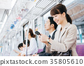 Business Woman Train photography cooperation-Keio Electric Railway Co., Ltd. 35805610