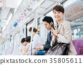 Business Woman Train photography cooperation-Keio Electric Railway Co., Ltd. 35805611
