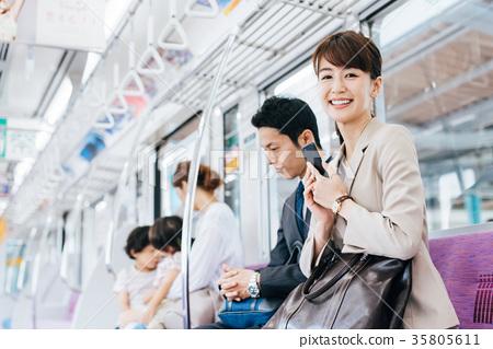 商務女子火車攝影合作 - 京王電鐵有限公司 35805611